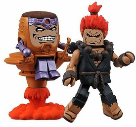 Marvel Vs Capcom 3 Minimates Series 3 Exclusive Mini Figure 2-Pack MODOK Vs. Akuma