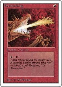 Magic the Gathering Unlimited Edition Single Card Common Firebreathing
