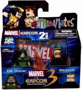 Marvel Vs Capcom 3 Minimates Series 3 Mini Figure 2-Pack Dr. Doom Vs. Albert Wesker