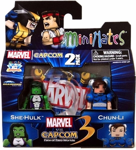 Marvel Vs Capcom 3 Minimates Series 3 Mini Figure 2-Pack She Hulk Vs. Chun Li