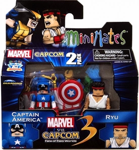 Marvel Vs Capcom 3 Minimates Series 3 Mini Figure 2-Pack Captain America Vs. Ryu