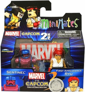 Marvel Vs Capcom 3 Minimates Series 2 Exclusive Mini Figure 2-Pack Sentinel Vs. Ryu