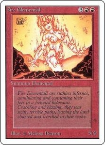 Magic the Gathering Unlimited Edition Single Card Uncommon Fire Elemental