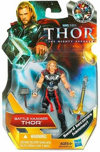 Thor Movie 4 Inch Action Figure #1 Battle Hammer Thor