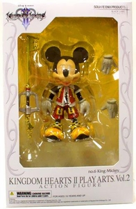 Disney Square-Enix Kingdom Hearts 2 Play Arts Action Figure King Mickey (Red Jacket)