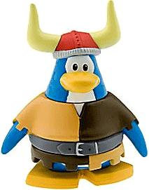 Disney Club Penguin 2 Inch Mini Figure Viking Penguin