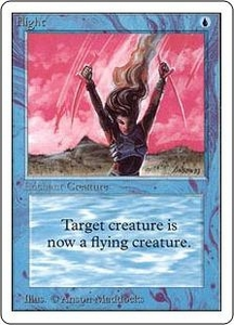 Magic the Gathering Unlimited Edition Single Card Common Flight