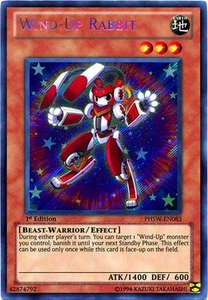 YuGiOh Zexal Photon Shockwave Single Card Secret Rare PHSW-EN083 Wind-Up Rabbit