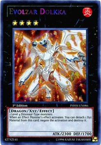 YuGiOh Zexal Photon Shockwave Single Card Secret Rare PHSW-EN086 Evolzar Dolkka