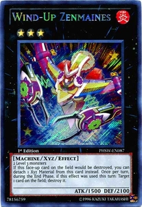 YuGiOh Zexal Photon Shockwave Single Card Secret Rare PHSW-EN087 Wind-Up Zenmaines