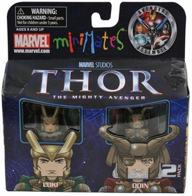 Thor Movie Exclusive Minimates Mini Figure 2-Pack Loki & Odin