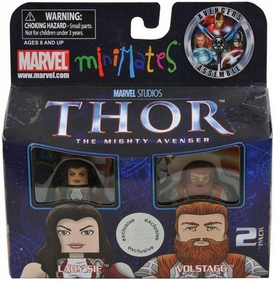 Thor Movie Exclusive Minimates Mini Figure 2-Pack Lady Sif & Volstagg