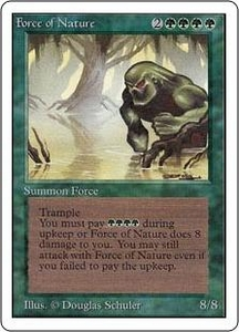 Magic the Gathering Unlimited Edition Single Card Rare Force of Nature Slightly Played Condition
