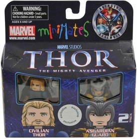 Thor Movie Exclusive Minimates Mini Figure 2-Pack Civilian Thor & Asgardian Guard