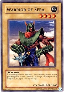 YuGiOh Ancient Sanctuary Single Card Common AST-002 Warrior of Zera