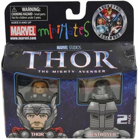 Thor Movie Minimates Exclusive Mini Figure 2-Pack Thor & Destroyer