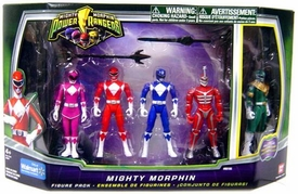 Power Rangers Mighty Morphin Exclusive 4 Inch Action Figure 5-Pack [Pink, Red, Blue, Lord Zed & Green Ranger]