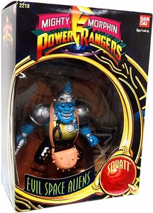 Mighty Morphin Power Rangers Deluxe Evil Space Aliens Squatt Very Minor Shelf-Wear; MINT Contents Inside!