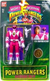 Power Rangers Auto Morphin Pink Ranger Kimberly Damaged Package, Mint Contents