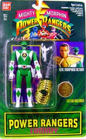 Power Rangers Auto Morphin Green Ranger Tommy Damaged Package, Mint Contents