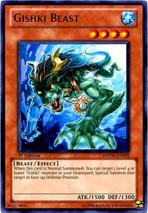 YuGiOh Zexal Photon Shockwave Single Card Rare PHSW-EN095 Gishki Beast