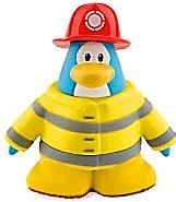 Disney Club Penguin 2 Inch Mini Figure Firefighter