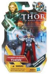Thor Movie 4 Inch Action Figure #15 Thunder Crusader Thor