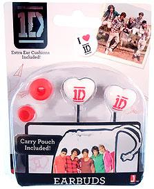 1D Earbuds Pink & White [Carry Pouch Included!]