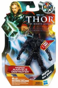 Thor Movie 4 Inch Action Figure #20 Inferno Marvel's Destroyer [Light Up]
