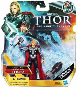 Thor Movie 4 Inch DELUXE Action Figure Thor [Lightning Fury]