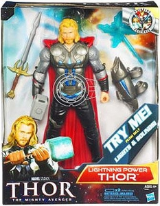 Thor Movie 10 Inch Deluxe Action Figure Electronic Thor