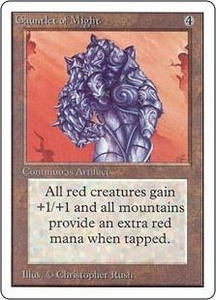 Magic the Gathering Unlimited Edition Single Card Rare Gauntlet of Might