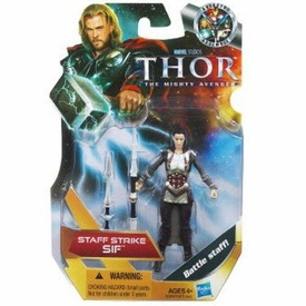 Thor Movie 4 Inch Action Figure Staff Strike Sif