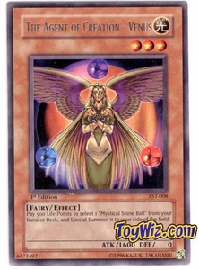 YuGiOh Ancient Sanctuary Single Card Rare AST-008 The Agent of Creation - Venus