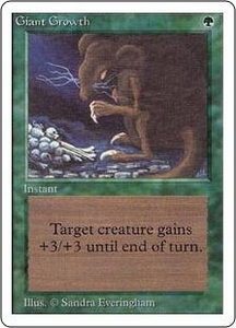 Magic the Gathering Unlimited Edition Single Card Common Giant Growth