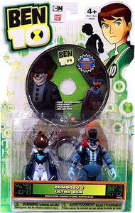 Ben 10 Ultimate Alien DVD 4 Inch Action Figure 2-Pack Zombozo & Ultra Ben