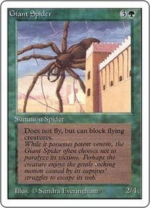 Magic the Gathering Unlimited Edition Single Card Common Giant Spider