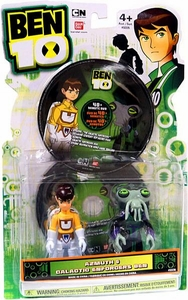 Ben 10 Ultimate Alien DVD 4 Inch Action Figure 2-Pack Azmuth & Galactic Enforcer Ben