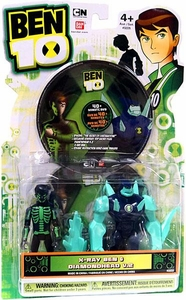 Ben 10 Ultimate Alien DVD 4 Inch Action Figure 2-Pack X-Ray Ben & Diamondhead V.2