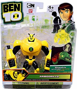 Ben 10 Alien 4 Inch Action Figure Armodrillo [Includes Minifigure For Revolution Ultimatrix]