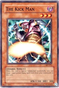YuGiOh Ancient Sanctuary Single Card Common AST-012 The Kick Man