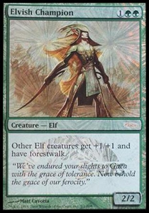 Magic the Gathering Other Promo Card Elvish Champion [Magic Scholarship Series Promo]