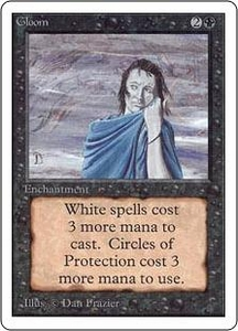 Magic the Gathering Unlimited Edition Single Card Uncommon Gloom Slightly Played
