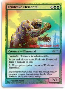 Magic the Gathering Other Promo Card Fruitcake Elemental [Holiday Promo]
