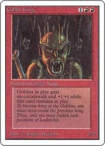Magic the Gathering Unlimited Edition Single Card Rare Goblin King