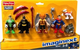 Imaginext DC Super Friends Set 4-Pack Heroes [Green Lantern, Batman, Hawkman, Superman with Krypto Dog]