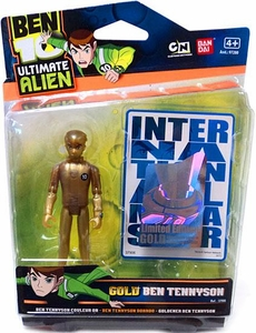 Ben 10 Limited Edition 4 Inch Action Figure GOLD Ben Tennyson