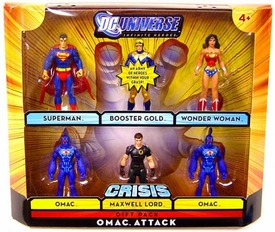 DC Universe Infinite Heroes Crisis Exclusive Action Figure 6-Pack Omac Attack [Superman, Booster Gold, Wonder Woman, Maxwell Lord & 2x Omacs]