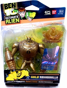 Ben 10 Limited Edition 4 Inch Action Figure GOLD Armodrillo