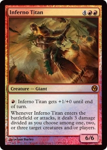 Magic the Gathering Other Promo Card Inferno Titan [Duels of the Planewalkers 2012 PS3 Promo]